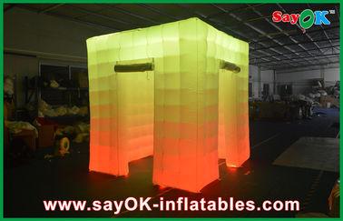 China Cabina inflable de la foto de la luz del cubo de la puerta de abertura 2 con el top llevado proveedor