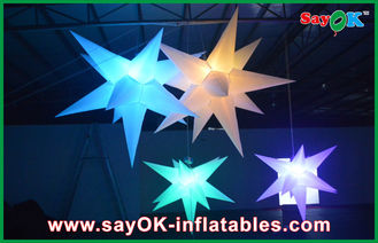 China Boda que cuelga la estrella llevada inflable de la decoración inflable de la iluminación proveedor