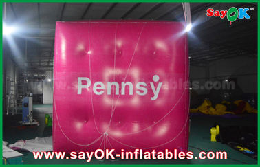 China Globo inflable del cubo inflable rosado gigante del helio para promover proveedor