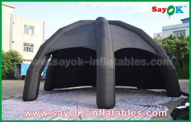 China Tienda inflable negra del aire del PVC/tienda de la araña de la bóveda de la publicidad con el ventilador proveedor