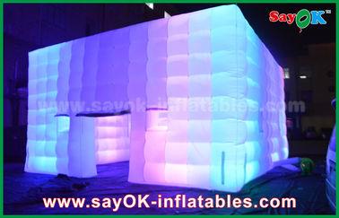 China El PVC al aire libre cubrió la tienda inflable del cubo gigante con el ventilador de la luz/del cambio del color proveedor