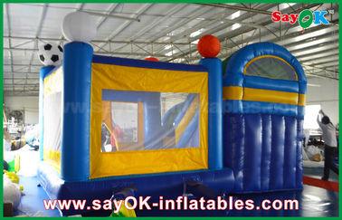 China Pequeño resbalador los 4x3m inflable del castillo de la despedida del PVC con el fútbol Decoratiionn proveedor