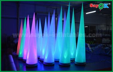 China Cono inflable de iluminación de la decoración colorida de la etapa para el club/la promoción proveedor