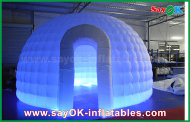 China tienda redonda de la bóveda del iglú del paño de 210D Oxford de la tienda inflable del aire con la luz del LED proveedor