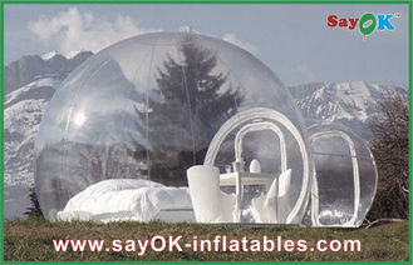 China Tienda de campaña inflable transparente de la burbuja inflable al aire libre grande de la tienda para el hombre 2 proveedor