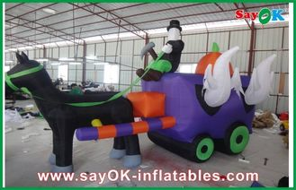 China Las decoraciones inflables de Halloween del paño de Oxford, van de fiesta el carro inflable proveedor