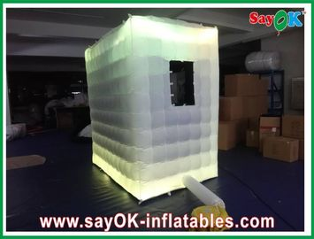 Logo Printing Inflatable Blow-up Photobooth For Photostudio With Pitched Roof