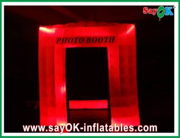12 LED Lights Inflatable Blow Up Photobooth Printing SGS For Festival Event