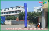 China Bailarín inflable azul del cielo del aire del individuo con el uso inferior de la boda del ventilador fábrica