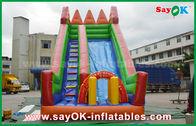 China Color amarillo/verde de la diapositiva inflable de la gorila de la lona del PVC de la seguridad para jugar fábrica