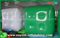 China Haciendo publicidad del globo inflable verde blanco/del globo del helio del cubo con el logotipo imprima fábrica