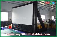 China material inflable del PVC de la pantalla de cine 7mLx4mH con el marco para la proyección fábrica