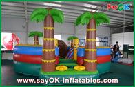 China diapositiva/piscina inflables de la gorila de la lona del PVC de 0.55m m con el árbol de coco anti - ULTRAVIOLETA fábrica