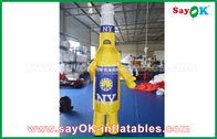 China Personajes de dibujos animados inflables portátiles amarillos/azules de encargo para la publicidad comercial fábrica