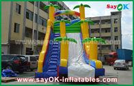 China Color amarillo/azul divertido/de la seguridad del PVC de la lona de la diapositiva inflable de la gorila para jugar fábrica
