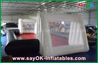 China calidad comercial inflable blanca del PVC de 0.55m m/del negro de encargo Inflatables del campo de fútbol fábrica
