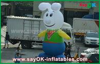 China personajes de dibujos animados inflables del conejo precioso del paño de 210D Oxford para la promoción fábrica