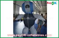 China Productos inflables de encargo del robot del paño de la aduana 2mH Oxford azules para hacer publicidad fábrica