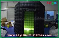 China 1 cabinas inflables negras de la puerta 2.5m/blancas de encargo de la foto con el paño de Oxford de la luz del LED fábrica