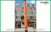 China Bailarín inflable rojo/anaranjado/azul del aire/bailarín del cielo con con el ventilador del CE para la publicidad al aire libre fábrica