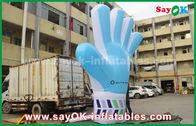 China Productos inflables de encargo de Oxford del gigante, modelo azul inflable alto de la mano de los 2m para los acontecimientos fábrica