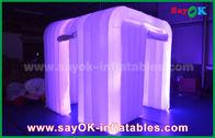 China El paño blanco de Oxford llevó la cabina inflable de la foto de la iluminación de tira para casarse la decoración fábrica