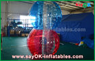 China Juegos inflables transparentes de los deportes de TPU, bola gigante de la burbuja del cuerpo humano fábrica