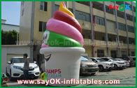 China Productos inflables modificados para requisitos particulares gigante, helado inflable para hacer publicidad/promoción/partido fábrica