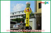 China Cocina inflable amarilla para hacer publicidad, bailarín inflable del bailarín del aire del cielo fábrica