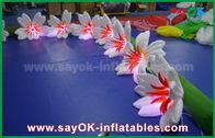 China flor inflable de nylon larga Chai del lirio de la decoración de la iluminación de los 8m para casarse fábrica