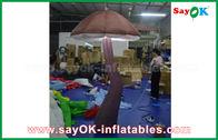 China Seta inflable viva de Brown con la luz del LED dentro para la decoración de la demostración fábrica