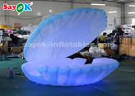 China 4mH iluminación colorida gigante Shell llevado inflable para casarse la decoración fábrica
