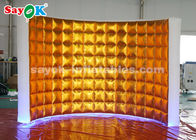 China Pared inflable de la cabina de la foto del paño de oro de Oxford con las luces LED fábrica