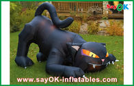China Gato negro inflable modificado para requisitos particulares de Airblown de las decoraciones inflables del día de fiesta fábrica