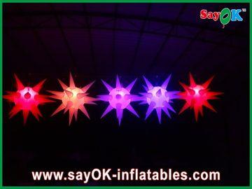 La decoración versátil de la etapa llevó la iluminación de la estrella inflable para el acontecimiento, rojo/azul