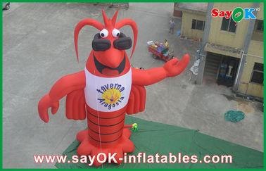 Paño inflable rojo de los personajes de dibujos animados 420D Oxford del festival