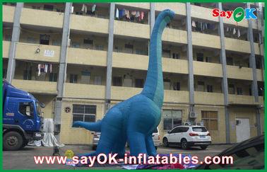 la prenda impermeable inflable grande azul del PVC del dinosaurio 10m explota el dragón de los personajes de dibujos animados