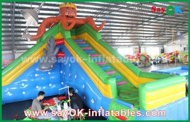 Gorila inflable de la seguridad gigante para el parque de atracciones, castillo inflable de la despedida