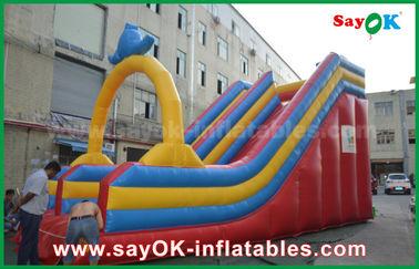 Modificado para requisitos particulares 0,55 diapositivas inflables de la gorila de la lona del PVC para la diversión del agua/el parque del agua