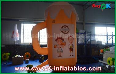 Productos inflables de encargo anaranjados/taza y cerveza inflables para la promoción/el partido