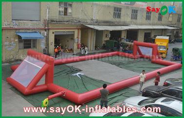 Campo de fútbol inflable de la lona del PVC del gigante 0.5m m, campo de fútbol inflable portátil