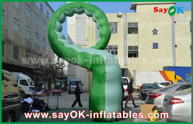 China Personajes de dibujos animados inflables del paño verde de Oxford/Caterpillar inflable fábrica