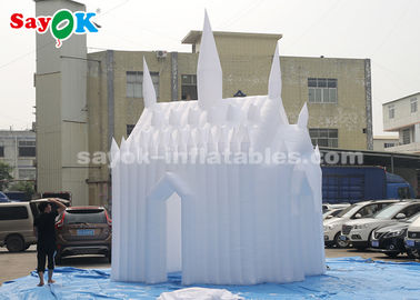 China El castillo animoso inflable del paño blanco de 210D Oxford para los niños modificó tamaño para requisitos particulares fábrica