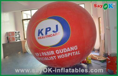 El helio grande rojo hincha el globo inflable comercial del gas del helio de los productos