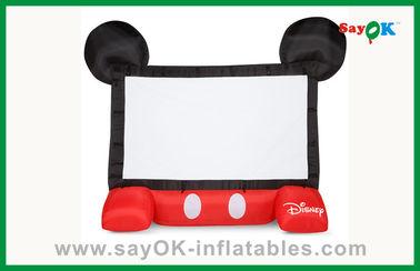 Pantalla de proyector inflable móvil de los niños de la pantalla de cine inflable divertida de Disney