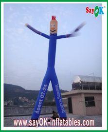 Paño de nylon del aire de la Rasgón-parada inflable azul del bailarín con dos piernas