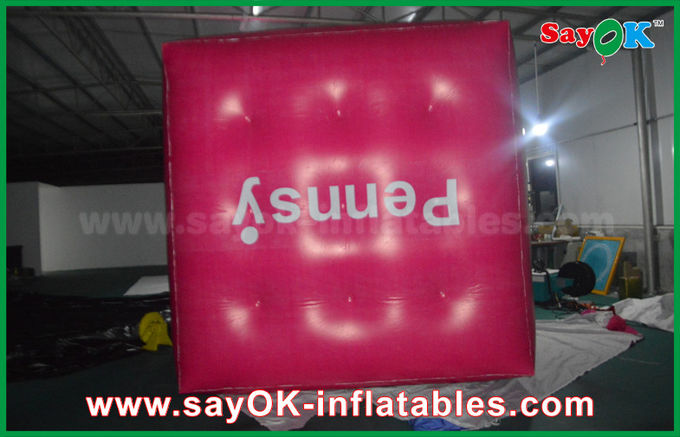 Globo inflable del cubo inflable rosado gigante del helio para promover