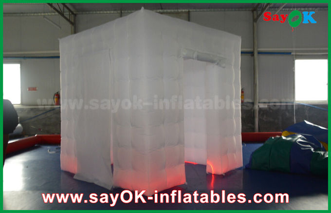 Caso inflable los 2.5x2.5m de la cabina de la foto del RGB LED o Customzied
